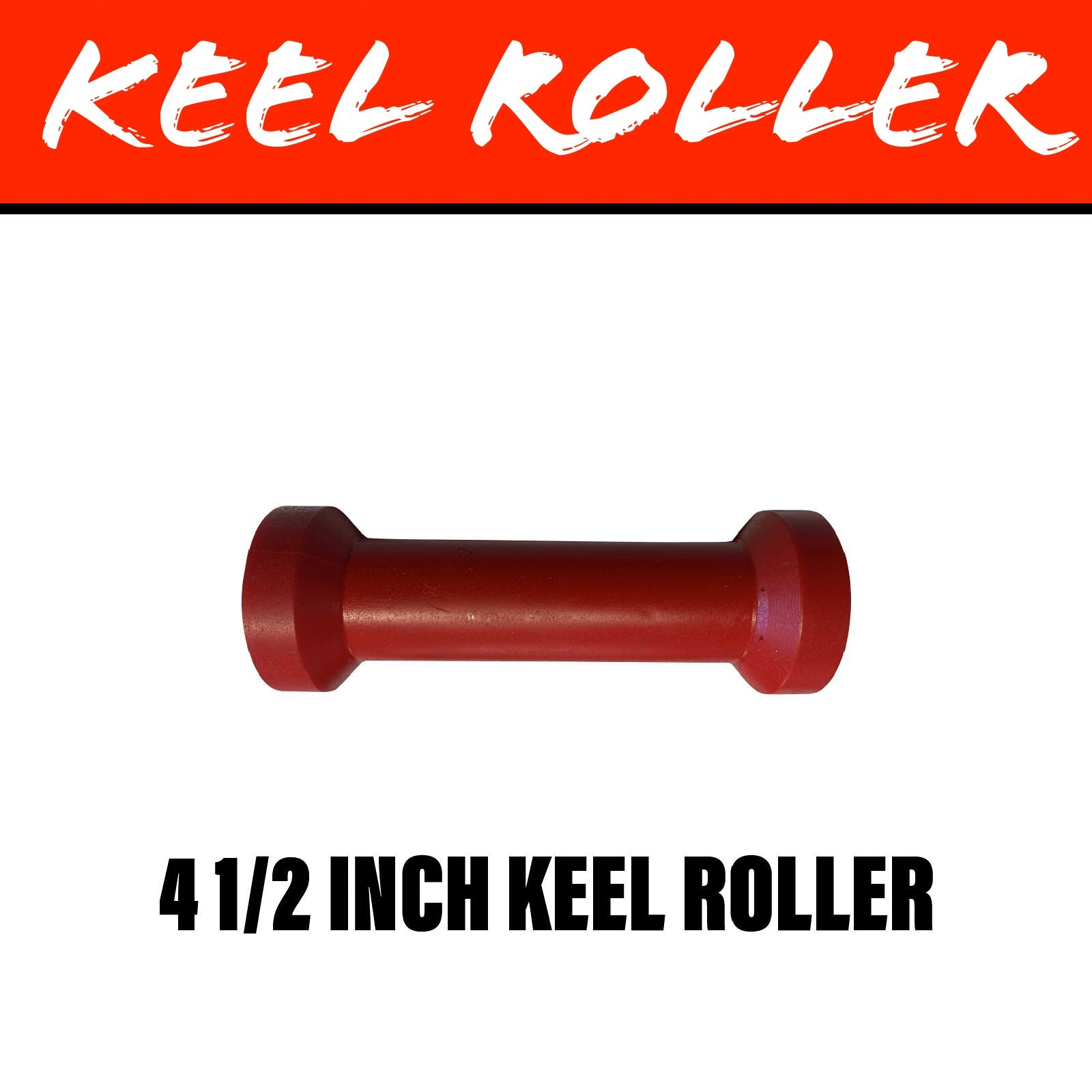 4 1/2 INCH RED POLY Centre Roller