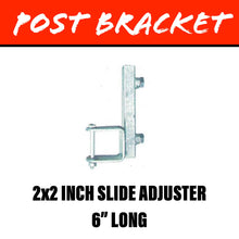 Load image into Gallery viewer, 20MM SQUARE POST Slide Adjuster Bracket 50X50MM