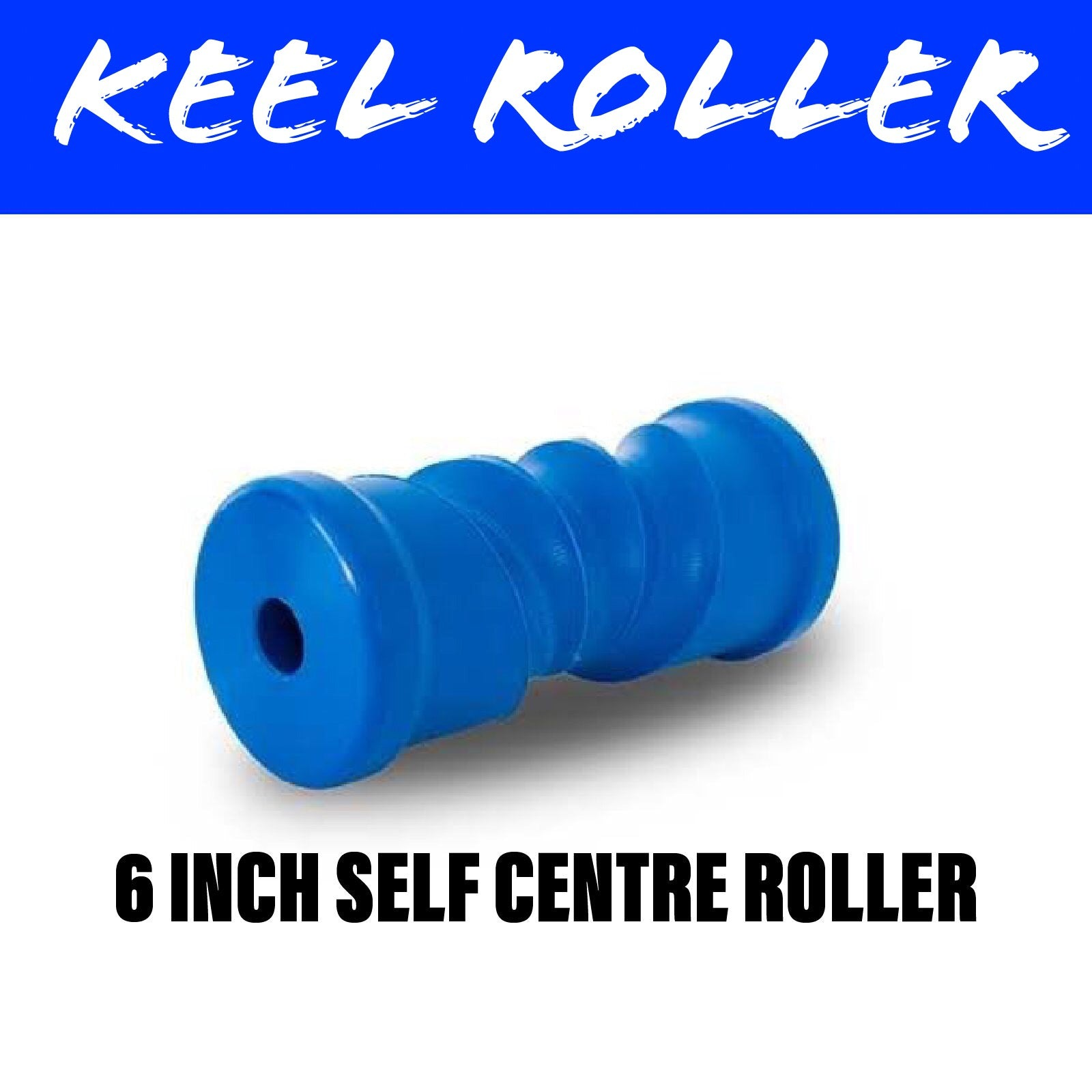 6 INCH BLUE NYLON Self Centring Centre Roller