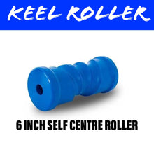 Load image into Gallery viewer, 6 INCH BLUE NYLON Self Centring Centre Roller