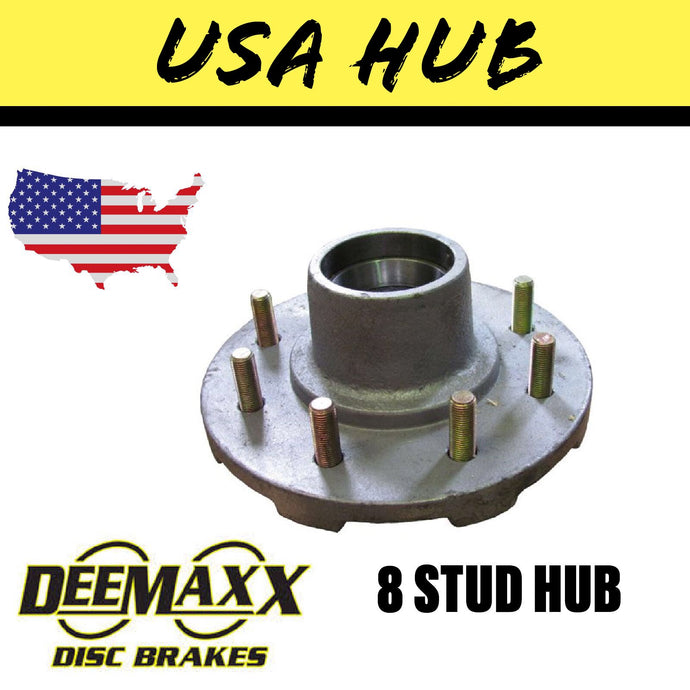 DEEMAXX 8 STUD HUB SUIT DEXTER 7000LB Bearings