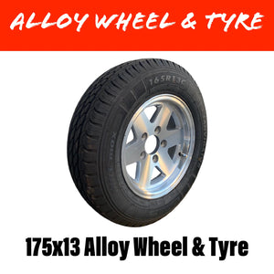 13 INCH ALLOY WHEEL AND TYRE (MULTIPLE SIZES)