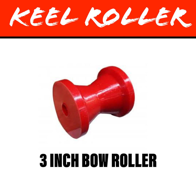 3 INCH RED POLY Winch Post Roller