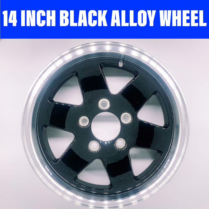 14 INCH KOYA BLACK ALLOY WHEEL FORD STUD PATTERN