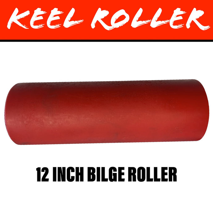 12 INCH RED POLY Flat Bilge Centre Roller