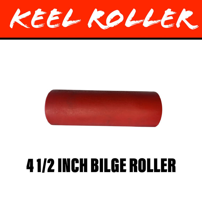 4 1/2 INCH RED POLY Flat Bilge Centre Rollers
