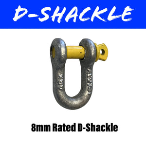 8MM RATED D-SHACKLE