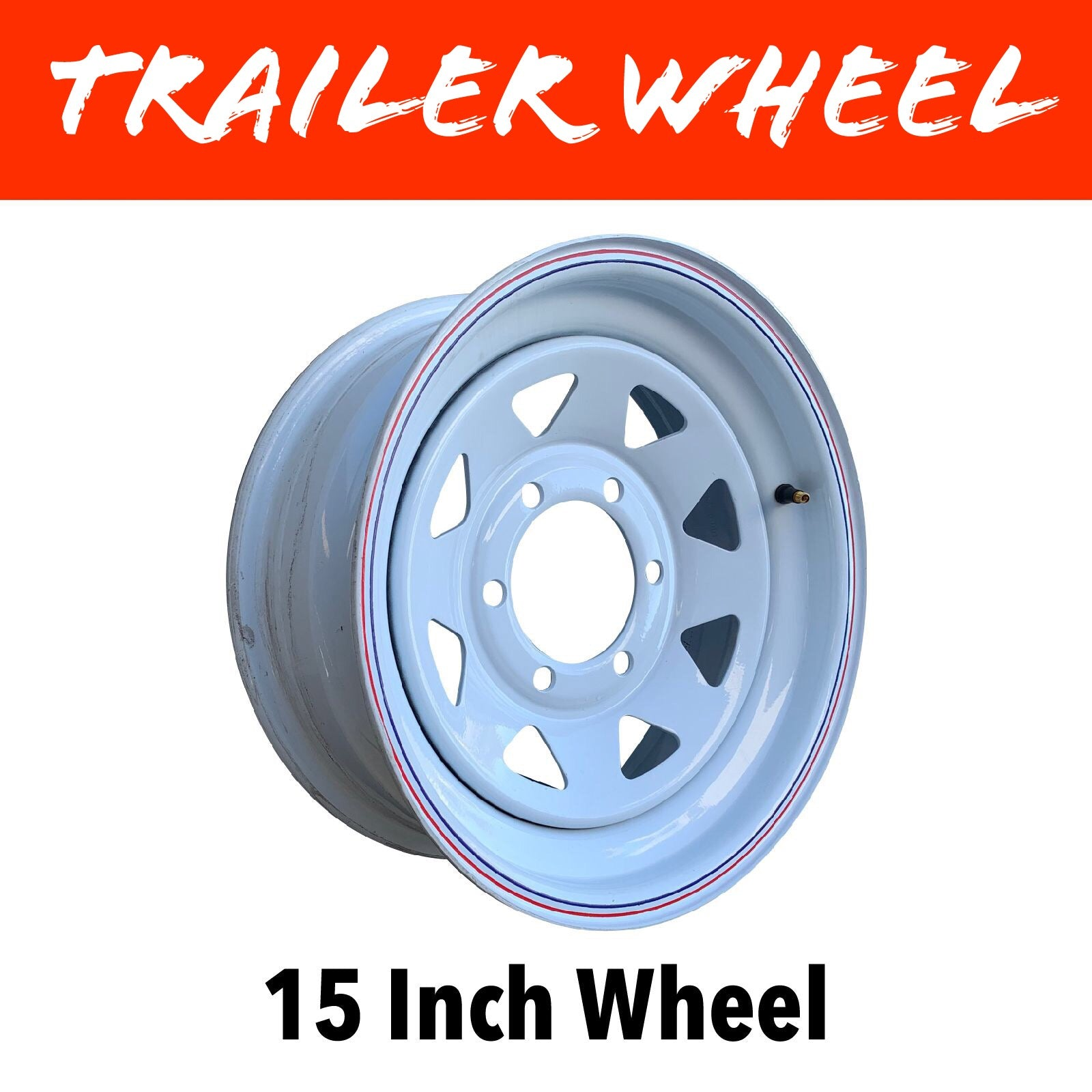 15 INCH WHITE PAINTED WHEEL