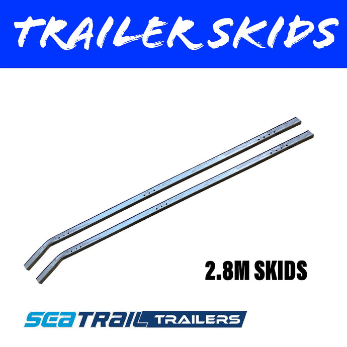 2.8M METAL BACKED Boat Trailer Skids Pair