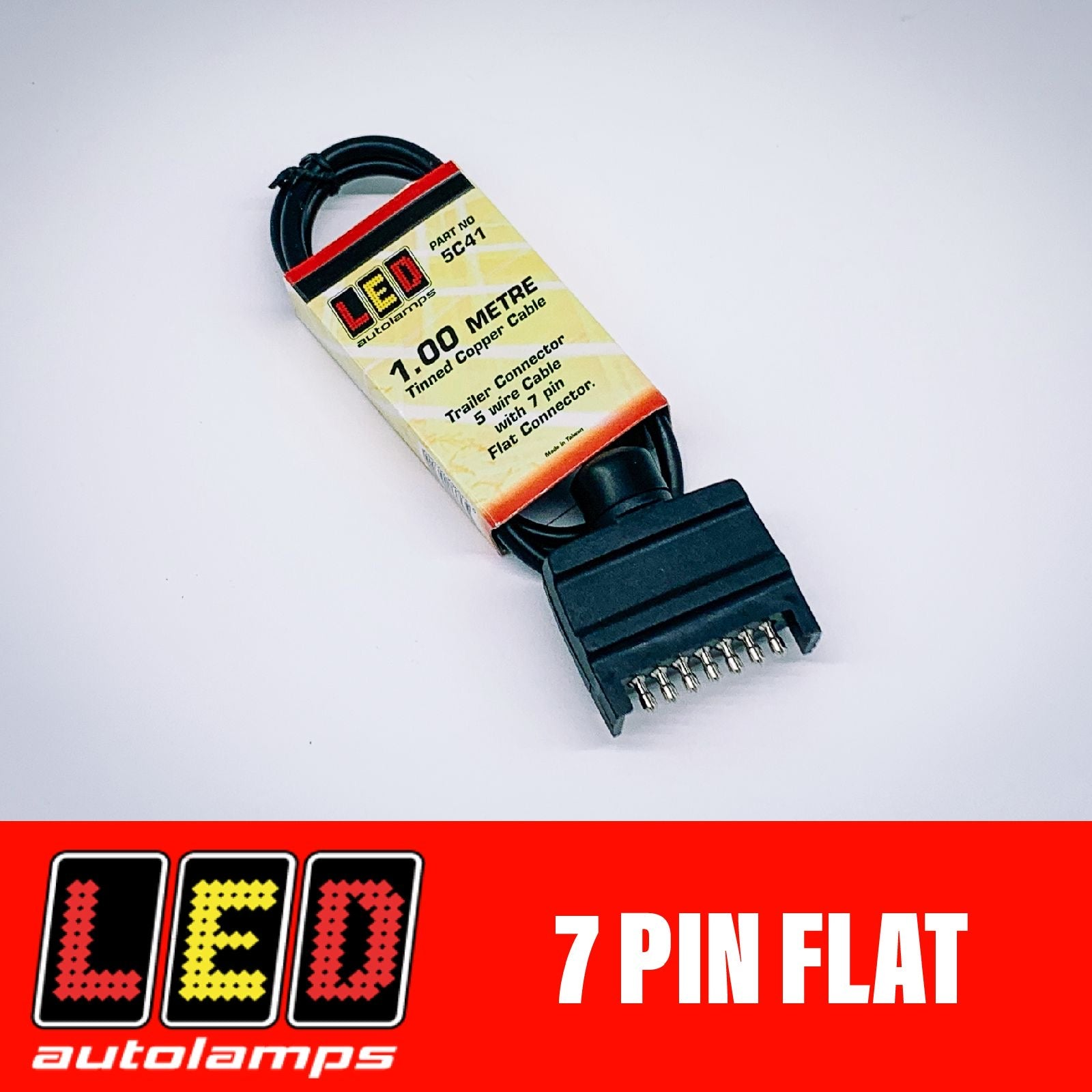 LED AUTOLAMPS 7 PIN FLAT PLUG IN HARNESS