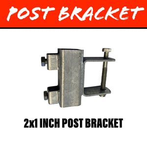 40MM SQUARE POST BRACKET 50X25MM