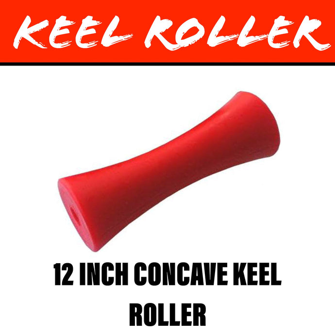 12 INCH RED POLY Concave Centre Roller