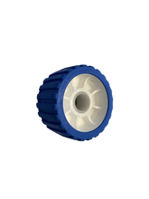 Load image into Gallery viewer, 5 INCH BLUE Wobble Roller 26MM Bore