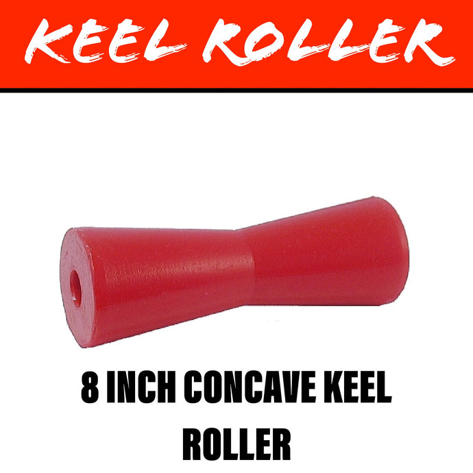 8 INCH RED POLY Concave Centre Roller