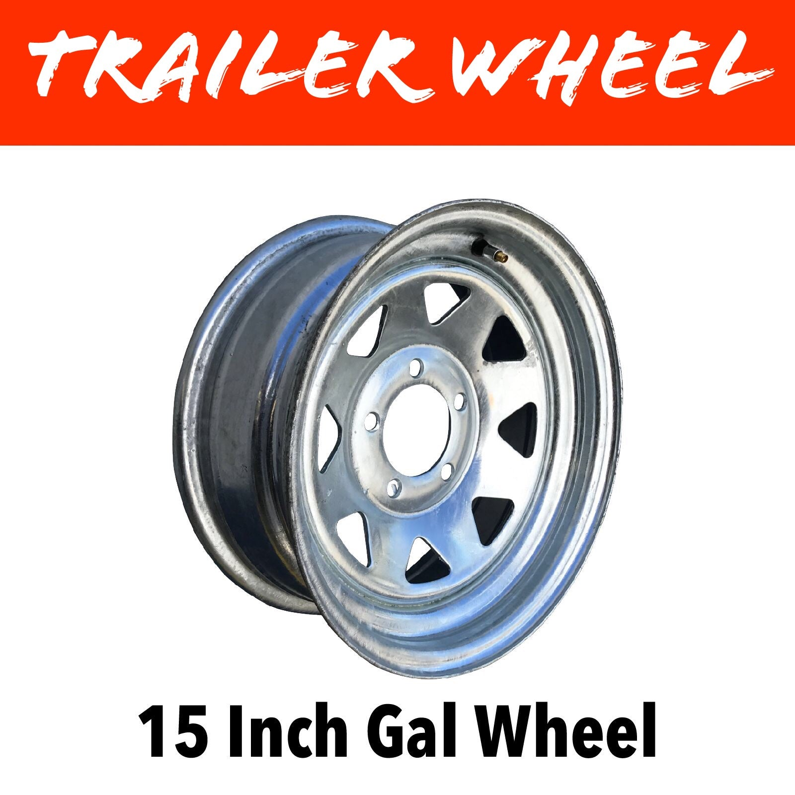15 INCH 5 STUD GALVANISED WHEEL