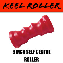 Load image into Gallery viewer, 8 INCH RED POLY Self Centring Centre Roller