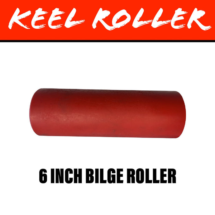 6 INCH RED POLY Flat Bilge Centre Roller