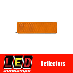 LED AUTOLAMPS AMBER REFLECTOR PAIR