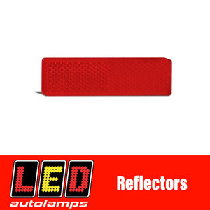 LED AUTOLAMPS RED REFLECTOR PAIR