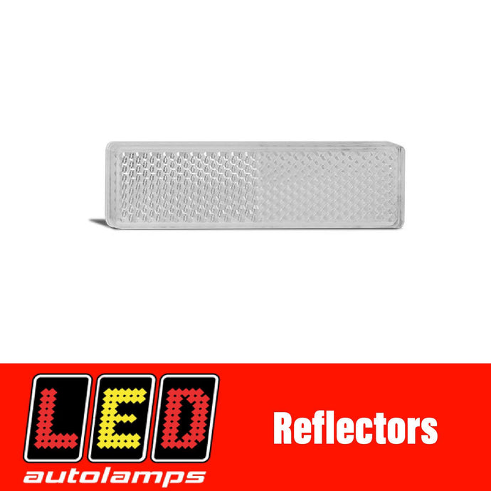 LED AUTOLAMPS WHITE REFLECTOR PAIR