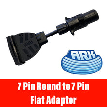Load image into Gallery viewer, ARK 7 PIN SMALL ROUND TO 7 PIN Flat Adaptor
