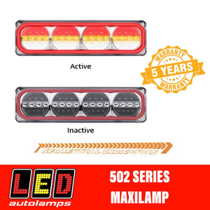 Pair LED AUTOLAMPS 520ARWM-2 MAXILAMP Sequential Indicator LED Taillights