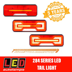 LED AUTOLAMPS 284ARWM-2 Sequential LED Light Lights with Reverse Light Pair