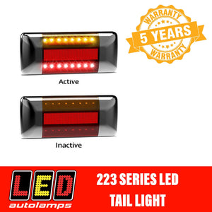 LED Autolamps 223BARM2 Black Cap LED Tail Light Assembly PAIR