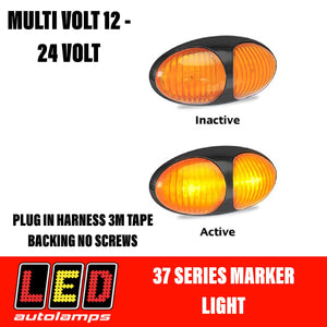 LED AUTOLAMPS Orange Marker Lamp Easy Fit 3M Tape 5 Year Warranty