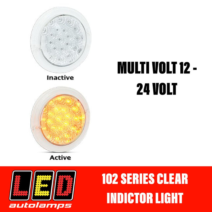 LED Autolamps 102 Series Clear Single Function Orange Indicator LED Light