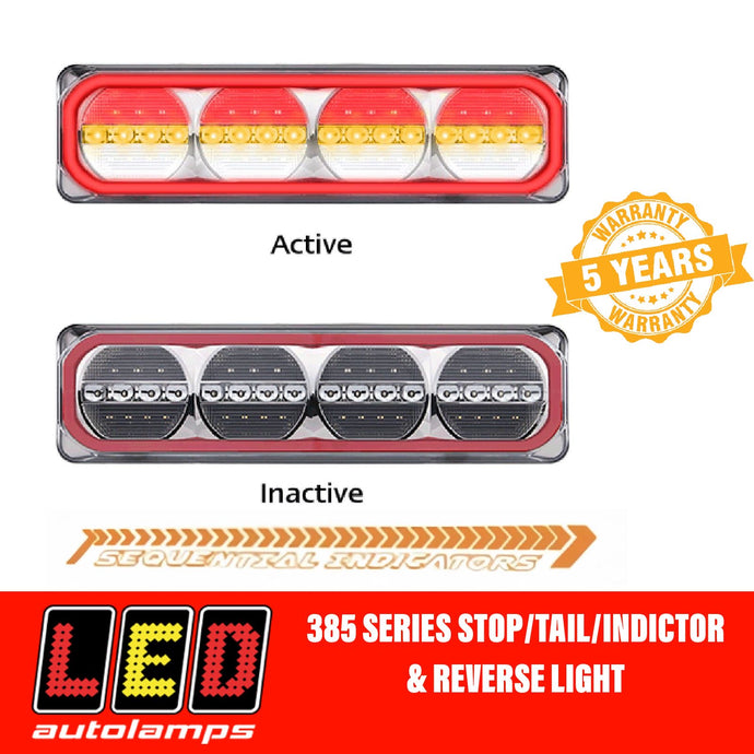 Pair LED AUTOLAMPS 385ARWM-2 MAXILAMP Sequential Indicator LED Taillights