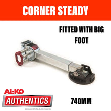 Load image into Gallery viewer, AL-KO CORNER STEADY 740mm DROP WITH BIG FOOT