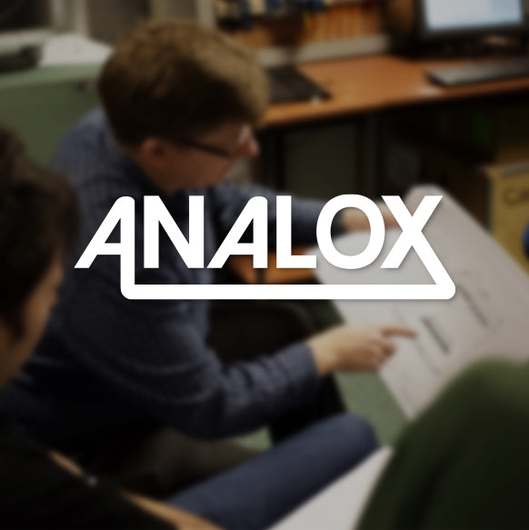 Analox company logo on the About Us page