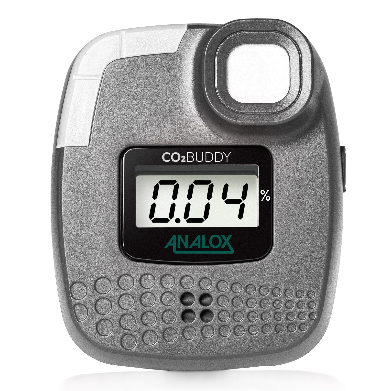 The CO2BUDDY by Analox, a portable carbon dioxide (CO2) unit that sets off an alarm, vibration and strobe when a dangerous level of carbon dioxide (CO2) is detected