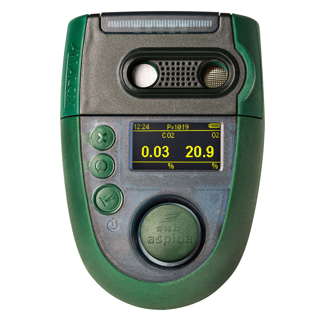 The Sub Aspida gas detector by Analox front view with display buttons