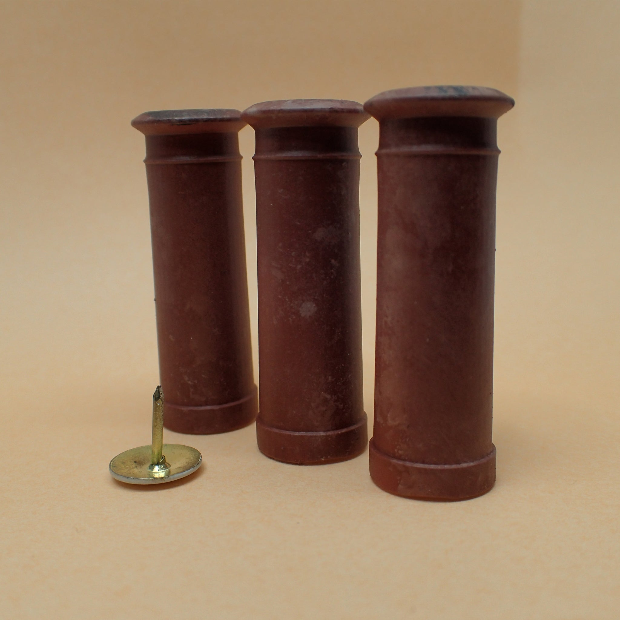 "Set of 3 ""Cannon"" style chimney pots, 1/24th scale"