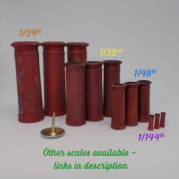 'Cannon' style chimney pot set, 1/32nd scale