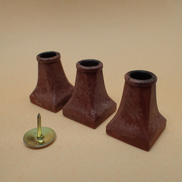 'Halifax' style chimney pot set, 1/24th scale