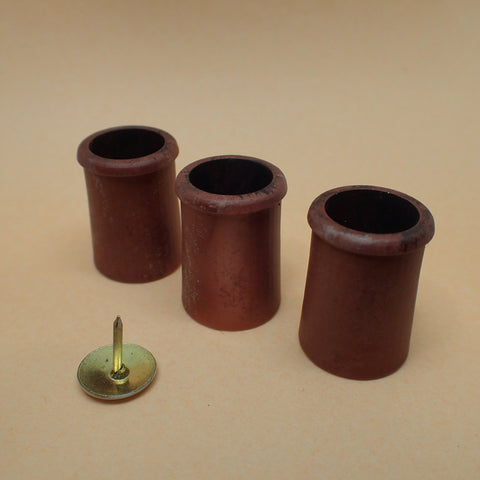 'Roll top' style chimney pot set, 1/24th scale
