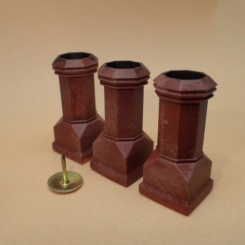 Edwardian style chimney pot set, 1/24th scale