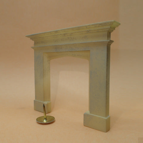 Tudor style stone fireplace, 1/24th scale