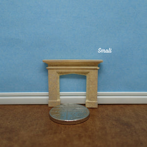 "Mantel and fire surround, ""stone"",  1/48th scale"