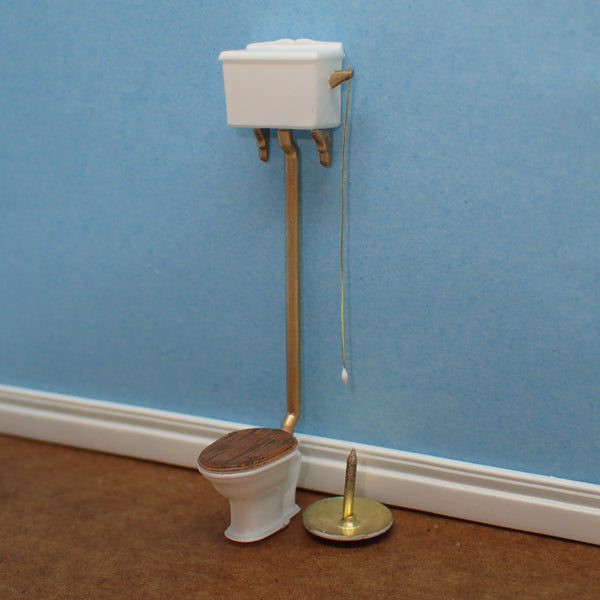 Traditional high cistern toilet, 1/48th scale