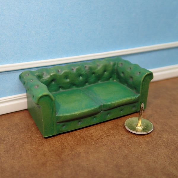 2 seat Chesterfield sofa, 1/48th scale