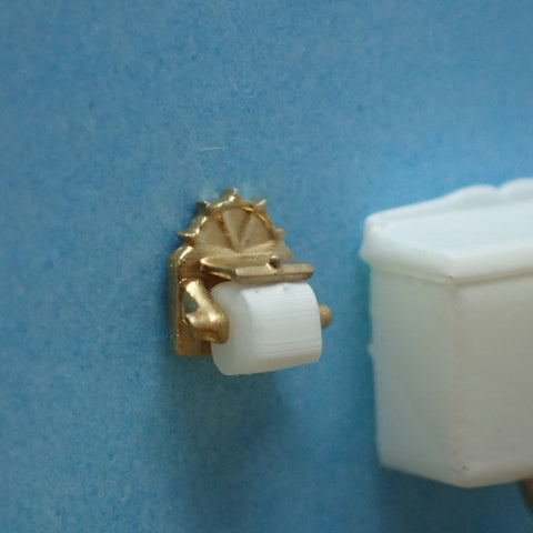 Ornate toilet roll, 1/48th scale