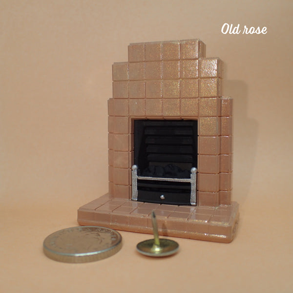 1930s style tiled fireplace, 1/24th scale