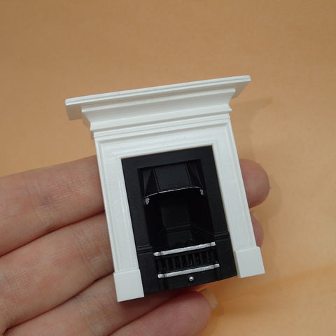 Small fireplace with mantelpiece, 1/24th scale
