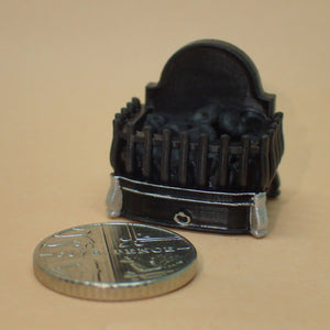 Tiny fire basket/dog grate, 1/24th scale
