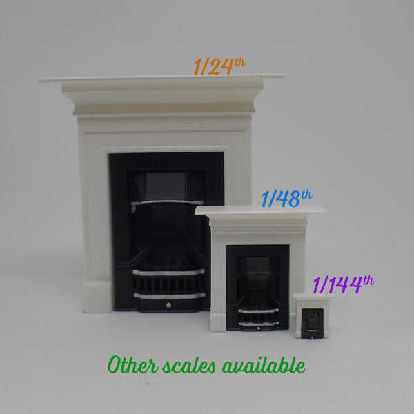 Small fireplace with mantelpiece, 1/144th scale