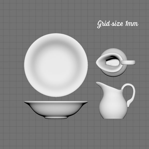 Ewer and basin set, 1/48th scale